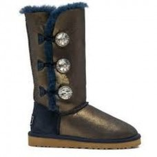 Купить UGG Bailey Button Triplet Bling Blue Gold в Украине
