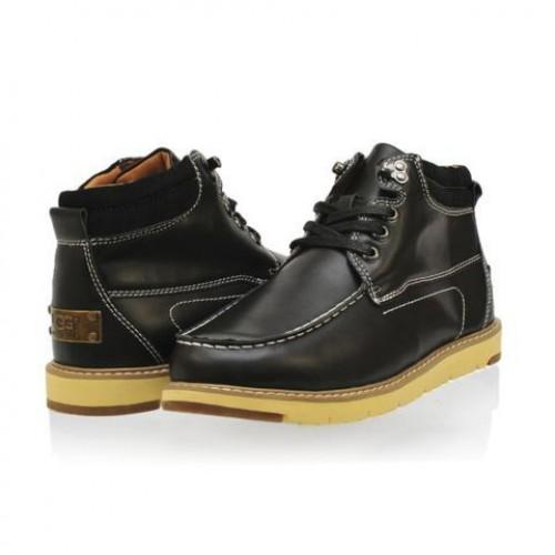 Купить UGG Ботинки Топ кожа Черные в Украине