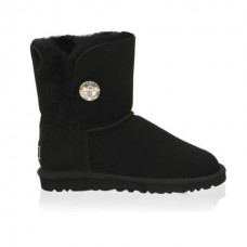 Детские угги UGG Baby Bailey Button Bling Black