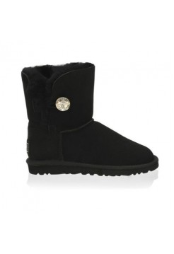 UGG Baby Bailey Button Bling Black