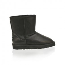 Детские угги UGG Baby CLASSIC SHORT LEATHER Black