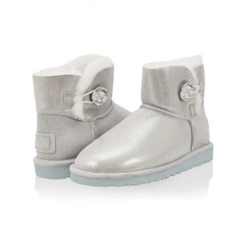 UGG Bailey Button Mini Bling White