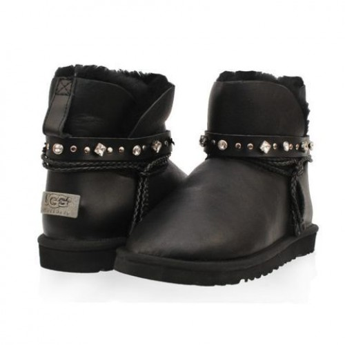 UGG Classic Mini Renn Metallic Black