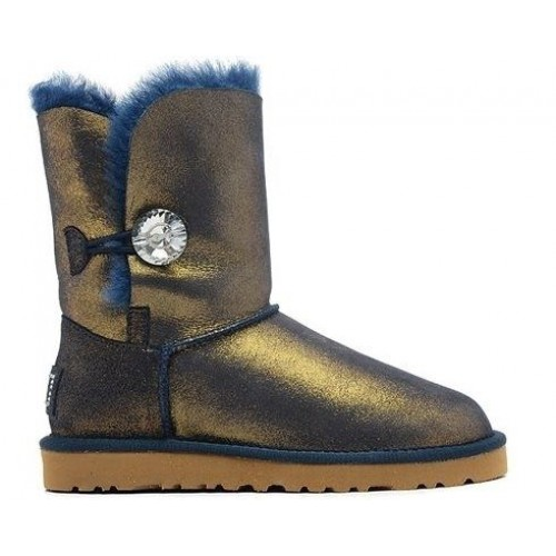 Купить UGG Bailey Button Bling Metallic Blue/Gold в Украине