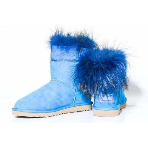 Купить Угги TALL RACCOON STYLE синие в Украине
