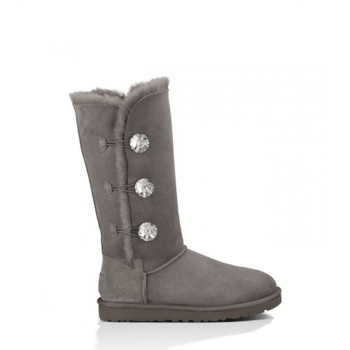 Купить UGG Bailey Button Triplet Bling Grey в Украине