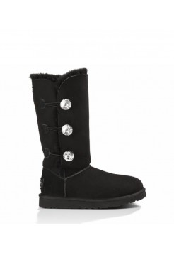 Купить UGG Bailey Button Triplet Bling Black В Украине