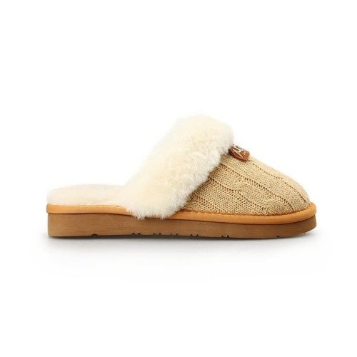 Купить Тапочки Ugg Cozy Knit Cable Cream в Украине