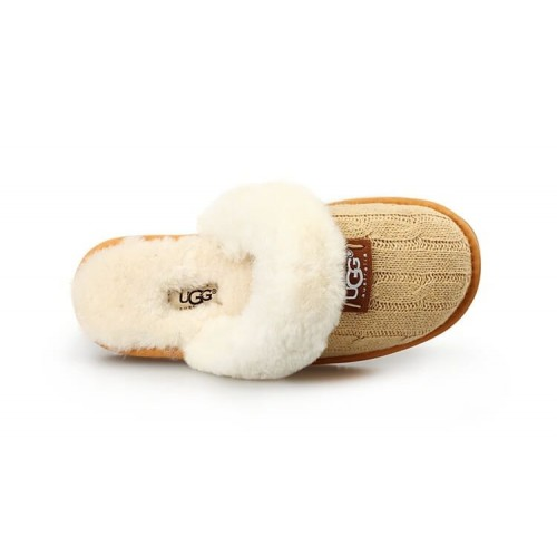 Тапочки Ugg Cozy Knit Cable Cream