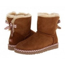 UGG Mini Bailey Bow 78 Chestnut (S143)