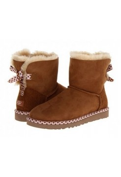 Купить UGG Mini Bailey Bow 78 Chestnut В Украине
