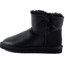 Купить UGG Bailey Button Mini Bomber Black в Украине
