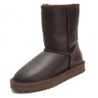Купить UGG Classic Short Leather Шоколад в Украине