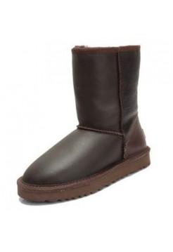 UGG Classic Short Leather Шоколад