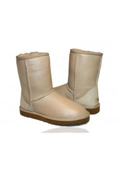 Купить UGG Classic Short Leather Sand В Украине