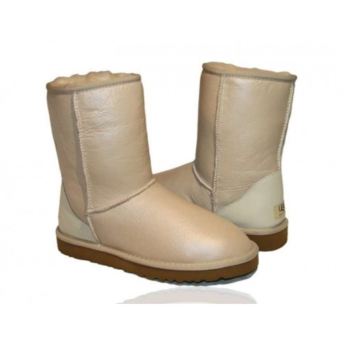 UGG Classic Short Leather Sand