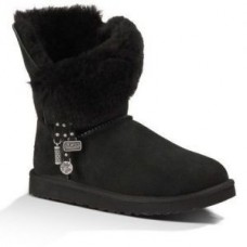 UGG Bailey Button Charm Azalea Black
