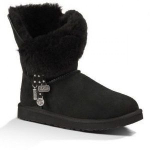 Купить UGG Bailey Button Charm Azalea Black в Украине