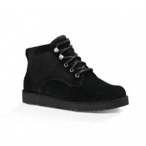 Купить UGG Ботинки Шнуровка Черные (S236) в Украине