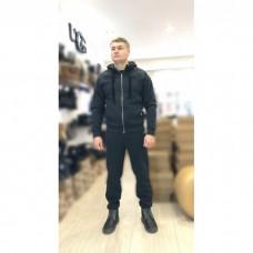 Мужской теплый костюм UGG Zip Merino Grey Серый на молнии, высокое горло