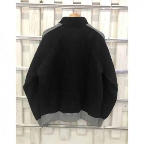 Мужской свитшот UGG Australia черный на молнии с серыми лампасами