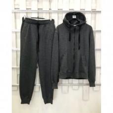 Купить Мужской темно-серый прогулочный костюм деми Colors of California Classic Zip Hoodie, худи на молнии в Украине