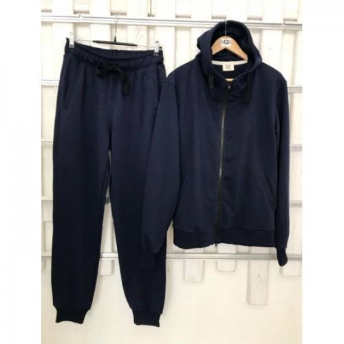 Купить Мужской темно-синий прогулочный костюм деми Colors of California Classic Zip Hoodie, худи на молнии в Украине