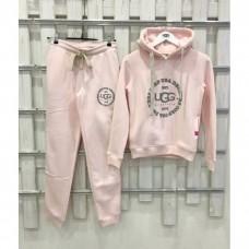Теплый костюм UGG Australia Print Classic Neck Hoodie Pink, бледно-розовый