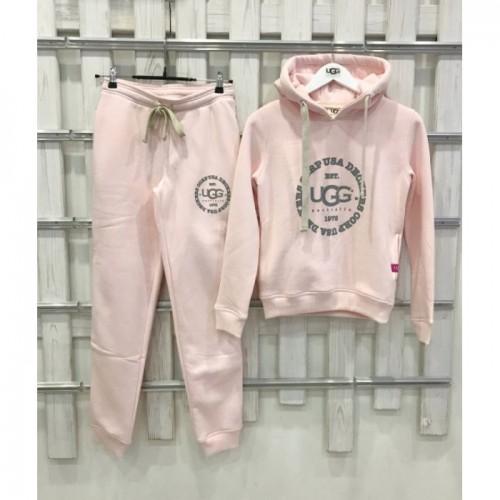 Купить Теплый костюм UGG Australia Print Classic Neck Hoodie Pink, бледно-розовый в Украине