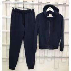 Купить Женский темно-синий прогулочный костюм деми Colors of California Classic Zip Hoodie, худи на молнии в Украине