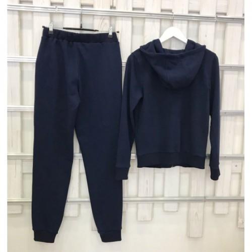 Женский темно-синий прогулочный костюм деми Colors of California Classic Zip Hoodie, худи на молнии