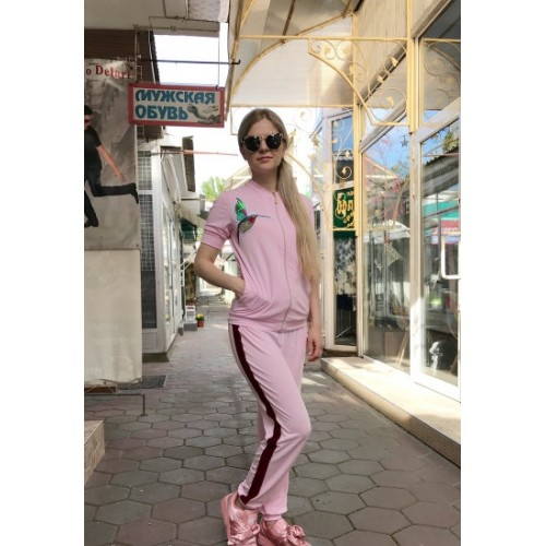 Женский летний прогулочный костюм Colors of California светло-розовый