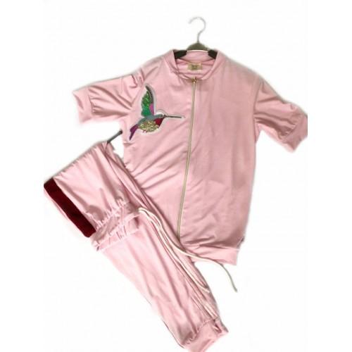 Купить Женский летний прогулочный костюм Colors of California светло-розовый в Украине