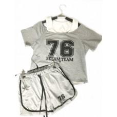 Купить Женский летний костюм UGG Australia Colors of California Светло-серый в Украине