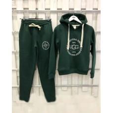 Купить Теплый женский костюм от UGG Australia Print Classic Neck Hoodie Green, зеленый в Украине