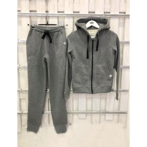 Купить Теплый костюм UGG Australia Zip Merino Grey темно-серый меланж на молнии в Украине