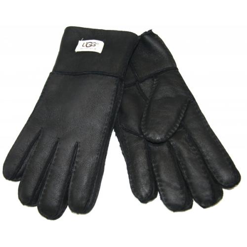 Перчатки мужские UGG дубленка Черные
