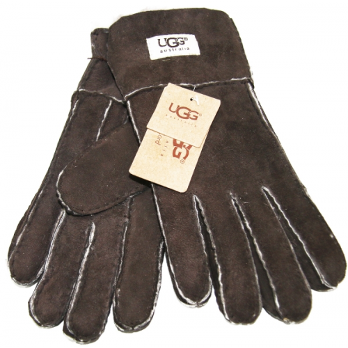 Купить Перчатки мужские UGG Тёмно-коричневые в Украине