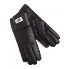 Перчатки UGG Leather Black Gloves