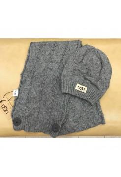 Купить Набор шапка и шарф UGG Australia Серый В Украине