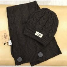 Купить Набор шапка и шарф UGG Australia Коричневый в Украине