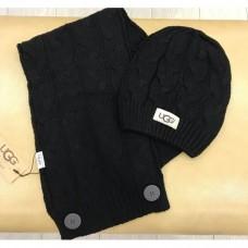 Набор шапка и шарф UGG Australia Черный