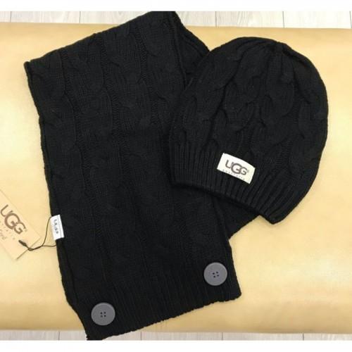 Купить Набор шапка и шарф UGG Australia Черный в Украине