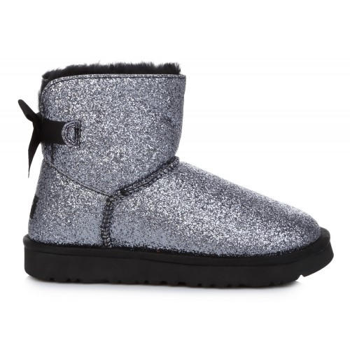Купить UGG Mini Bailey Bow Sparkle Black в Украине