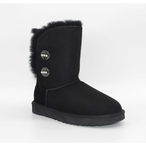 UGG Bailey Button Turnlock Bling Black