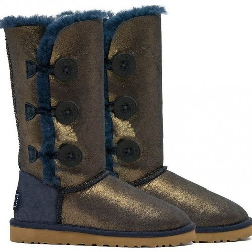UGG Bailey Button Triplet II NAVY/GOLD