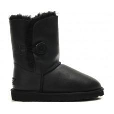 Купить Детские угги UGG Baby Bailey Button Leather Black II в Украине