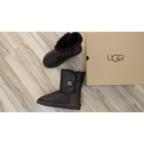 UGG Bailey Button Leather Brown II