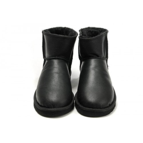 UGG Classic Mini Leather All Black II