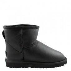 Купить UGG Classic Mini Leather All Black II в Украине